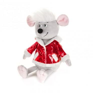 Мышонок Виталик в красной куртке (21 см)