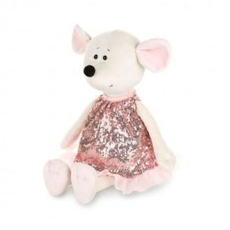 Мышка Мила в розовом платье (28 см)
