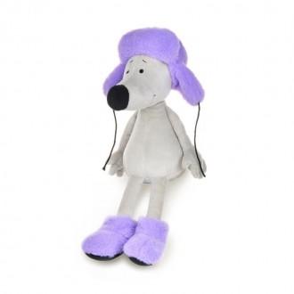 Крысеныш Борис в фиолетовой шапке и валенках (23 см)