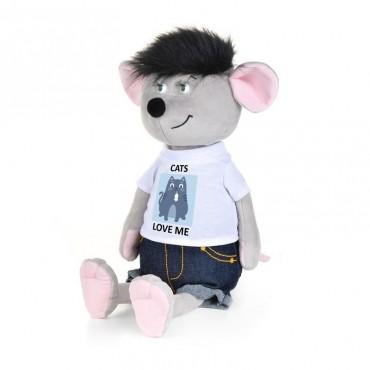 Мышонок Славик в джинсах и футболке (21 см)