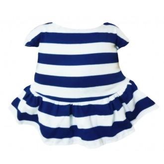 Платье трикотажное в бело-синюю полоску для Лили Baby