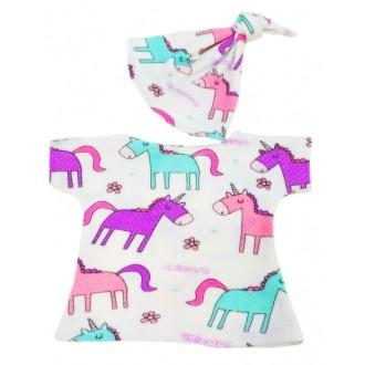 Спальный комплект: ночная сорочка и колпак с единорогами для Басика Baby