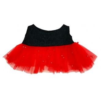 Красное бальное платье с черным лифом для Лили Baby