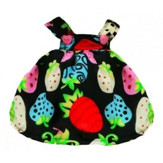 Сарафан черный с рисунком разноцветные ягоды для Зайки Ми 23 и 32 см