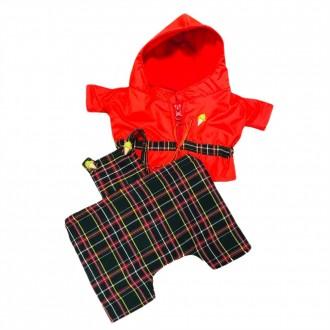 Непромокаемая курточка и штанишки на лямках для игрушек 25-27 см