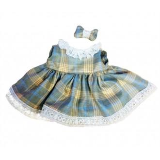 Платье в клетку с рюшами для Зайки Ми 18 и 25 см