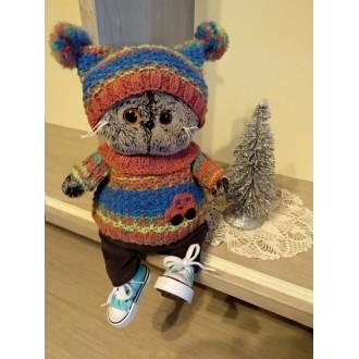 Костюм вязаный: шапочка и свитер для Басика Baby