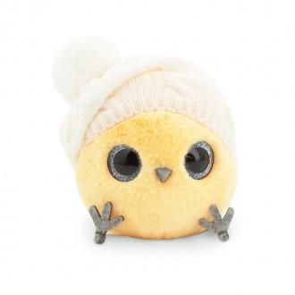 Желтый КТОтик в шапке с помпоном (13см)