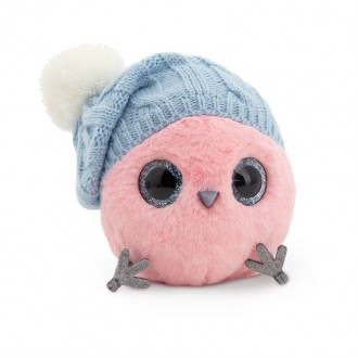 Розовый КТОтик в шапке с помпоном (13см)