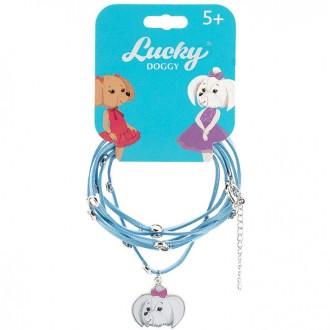 Кожаный браслет для девочки Lucky Doggy Мальтезе