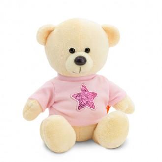 Медведь Топтыжкин желтый: Звезда (17 см)