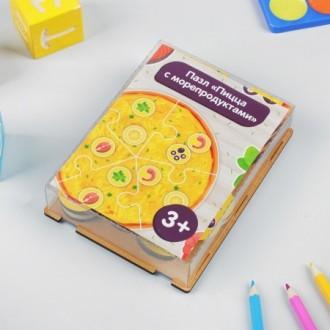 """Пазл """"Пицца с морепродуктами"""""""