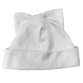 Шапочка Мальвина с бантиком на макушке белая для игрушек 27-30 см