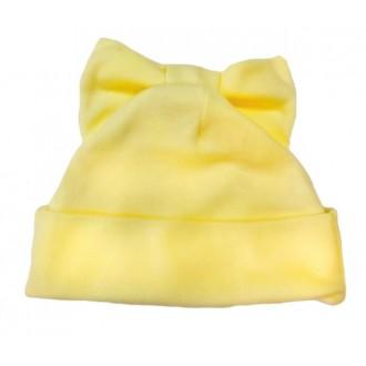 Шапочка Мальвина с бантиком на макушке желтая для игрушек 27-30 см