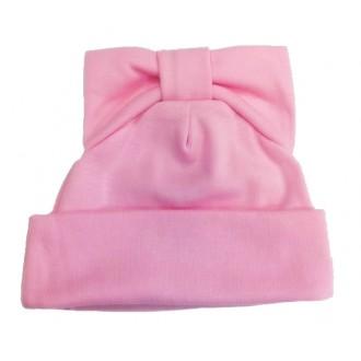 Шапочка Мальвина с бантиком на макушке розовая для игрушек 27-30 см