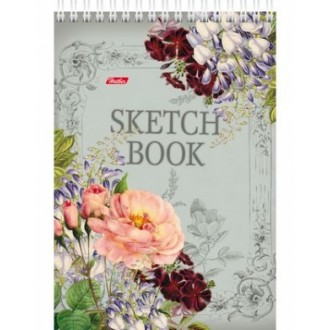 БЛОКНОТ SKETCHBOOK 80Л А5Ф 100ГР/КВ.М БЕЗ ЛИНОВКИ ТВЕРДАЯ ПОДЛОЖКА НА ГРЕБНЕ-ВАЛЬС ЦВЕТОВ
