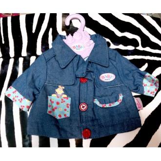 Курточка джинсовая для куклы Baby Born