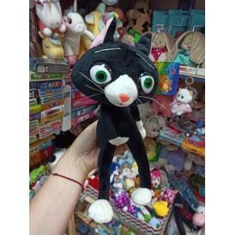 Игрушка Черный кот, на каркасе (30 см)