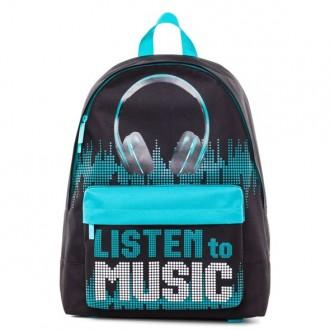 Рюкзак Hatber BASIC -Listen to music- 30Х41Х13 СМ полиэстер 1 отделение 1 карман