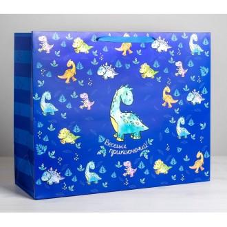 Пакет ламинированный «Весёлых приключений», XL 49 × 40 × 19 см