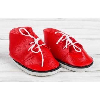 """Ботинки для игрушек """"Завязки"""", длина подошвы 7,5 см, цвет красный"""