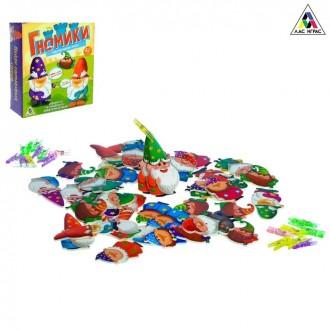 Настольная игра на ловкость для малышей «Гномики»