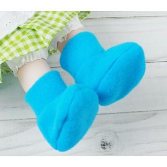 Носки для игрушек 25-30 см , длина стопы 7 см, цвет голубой