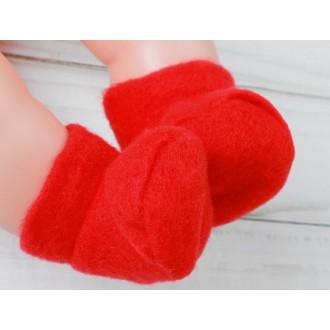 Носки для игрушек19-22 см , длина стопы 6 см, цвет красный