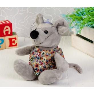 """Мягкая игрушка """"Мышка платье в цветок"""" 15 см"""