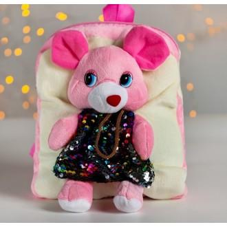 """Рюкзак """"Мышка в платье"""" 22 см × 26 см"""