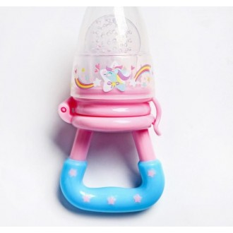 Ниблер «Пони», с силиконовой сеточкой, цвет розовый/голубой