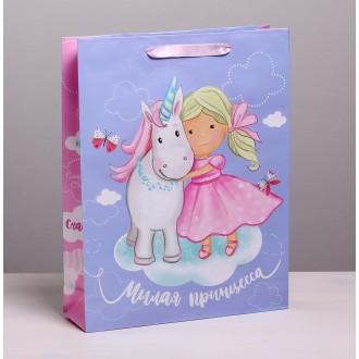 Пакет ламинированный вертикальный «Маленькая принцесса», L 31 × 40 × 9 см