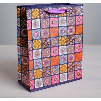 Пакет ламинированный вертикальный «Мозайка», ML 23 × 27 × 8 см