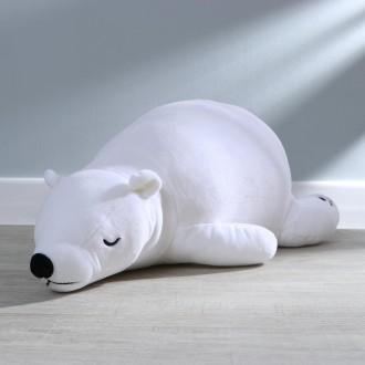 Мягкая игрушка «Мишка закрытые глазки», цвет белый (50 см)