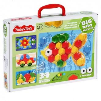 Мозаика для самых маленьких, 34 элемента