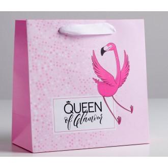 Пакет ламинированный квадратный Queen, 22 × 22 × 11 см