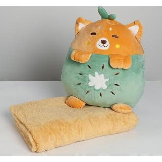 Мягкая игрушка «Мишка», с пледом, 30 см