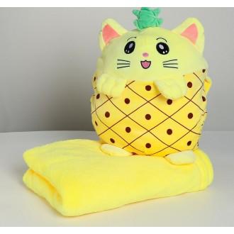 Мягкая игрушка «Кошечка», с пледом, 30 см