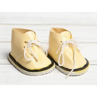 Ботинки для куклы «Завязки», длина подошвы 6 см, цвет кремовый