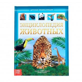 Детская энциклопедия в твёрдом переплёте «Животные», 48 стр.