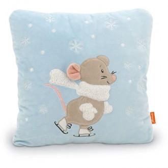 Подушка Мышка: Мася на катке (35 см)