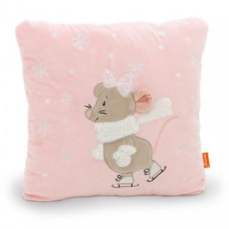 Подушка Мышка: Мила на катке (35 см)
