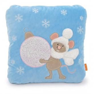 Подушка Мышка с новогодней игрушкой (35 см)