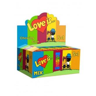 """Жевательная резинка  """"Love is..."""" ассорти вкусов 5 в 1 (упаковка из 5 жвачек)"""