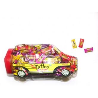 """Жевательная резинка  """"CAR SHAPE TATOO GUM"""" 2,5г (в машинке 300 штук )"""