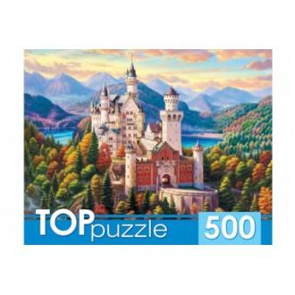TOPpuzzle. ПАЗЛЫ 500 элементов. ХТП500-4226 БАВАРИЯ. ЗАМОК НОЙШВАНШТАЙН