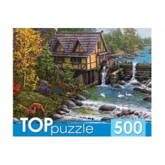TOPpuzzle. ПАЗЛЫ 500 элементов. ХТП500-4229 ВОДЯНАЯ МЕЛЬНИЦА