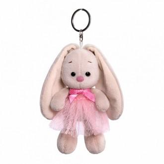 Брелок Зайка Ми в розовой юбке и с бантиком (14 см)