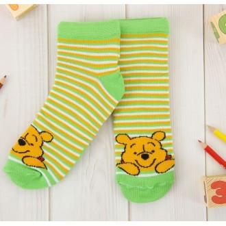 """Носки детские короткие """"Медвежонок Винни"""", 16-18 см, 4-6 лет, 80% хлопок, 17% полиамид, 3% эластан"""