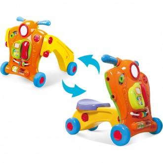 Детские ходунки 2 в 1 PLAYGO (свет, звук, батарейки)